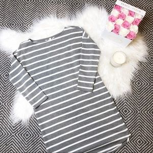 BB Dakota | Grey & White Stripe Dress